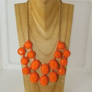 Kate Spade Orange Bib Necklace